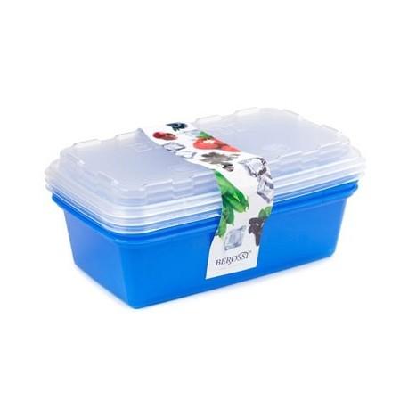 Набор контейнеров для заморозки  Zip (джинс) 3шт. 1л. 200х120х95мм