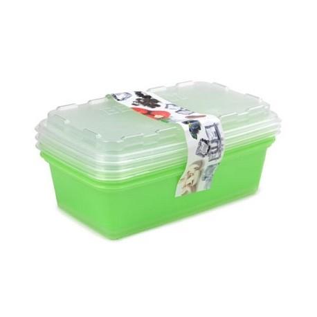 Набор контейнеров для заморозки  Zip (киви) 3шт. 1л. 200х120х95мм