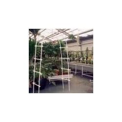 Арка для вьющихся растений (100х200 см) белая