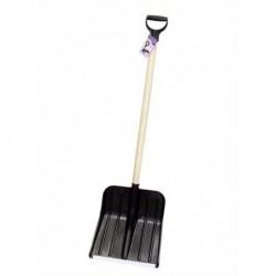 Лопата для снега с черенком Люкс (445х405мм, черенок - 1м)