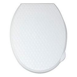 Сиденье для унитаза жесткое Ротанг (белое)