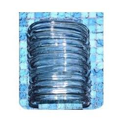 Набор пластиковых колец для штор в ванную 12шт. (голуб.)