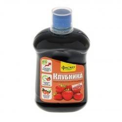 Удобрение органоминеральное жидкое Фаско в бутылках Для Клубники 500 мл. (9шт.)