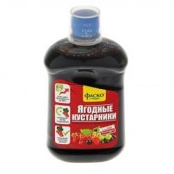 Удобрение органоминеральное жидкое Фаско в бутылках Для Ягодных Кустарников 500 мл. (9шт.)