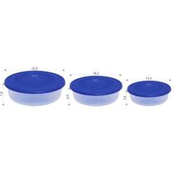Набор контейнеров для пищевых продуктов (круглый) 3в1 1,7 л., 1,02 л., 0,55 л.(220х70мм)