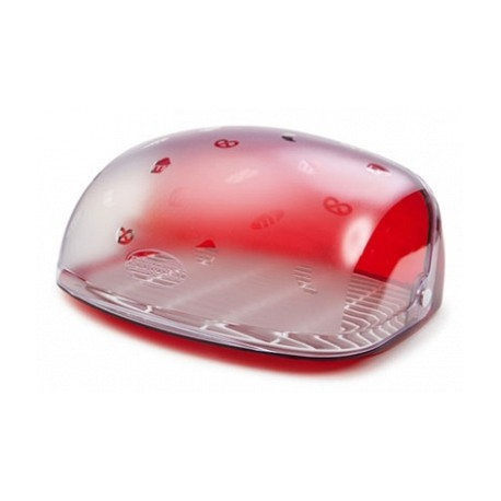 Хлебница Беросси (красный полупрозрачный) 300х363х170мм