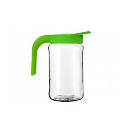 Кувшин Бочонок (салатный) (стеклянный кувшин 1,55 л.+ крышка с ручкой)