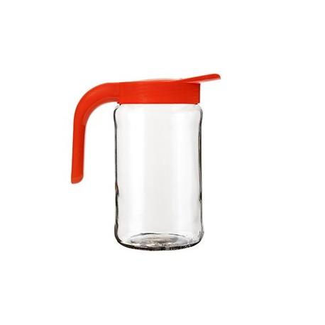 Кувшин Бочонок (мандарин) (стеклянный кувшин 1,55 л.+ крышка с ручкой)