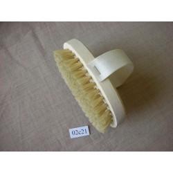 Щетка банная натуральная с ремешком, размер дл. 140 мм, шир. 90 мм