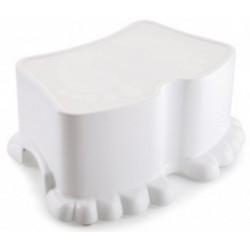 Табурет-подставка детская Ора (снежно-белый) 322х239х131мм