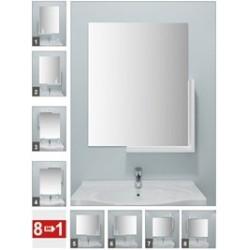 Набор для ванной комнаты Neo (белый мрамор) (зеркало 500х600 мм)
