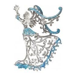 Ёлочное украшение-подвеска из акрила Ангел, 12см, 1шт