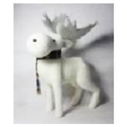 Фигура декоративная Лось в клетчатом шарфе, 45*56см, 1шт