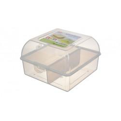 Контейнер для обеда ПАЗЛ прозрачный (150x90x145мм)