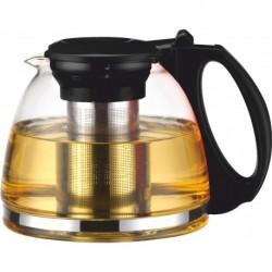Чайник заварочный (1100 мл), жаропрочное стекло, пластик. руч.[CL-7003]