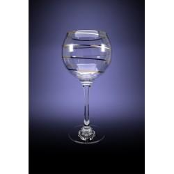 Набор 6 фужеров Эдем для вина с рисунком Змейка, 280мл [D29-1688]