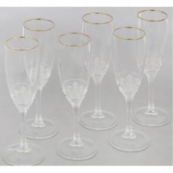 Набор 6 бокалов с рисунком Королевская лилия,[EL76-1687]