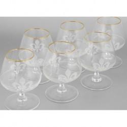 Набор 6 бокалов для бренди с рисунком Королевская лилия,[EL76-1812]