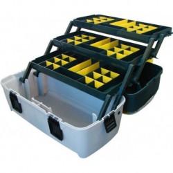 Ящик универсальный с 3 кантилеверами и 2 органайзерами на крышке 22 550х280х310 мм (Е-55)