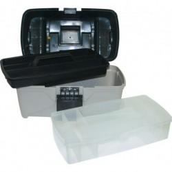 Ящик универсальный с контейнером, лотком и 2 органайзерами на крышке 12 295х170х190 мм (Е-30)