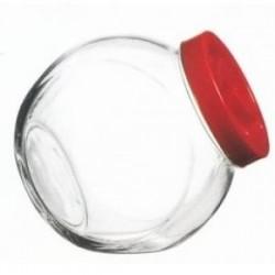 Банка боковая с красной пласт. крышкой 200мл BELLA (без упаковке)