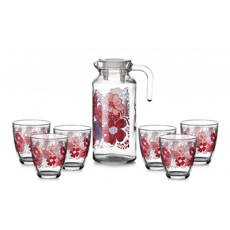 Набор: Кувшин + 6 стаканов RED DREAM (D28239)