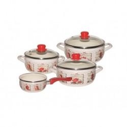 Набор посуды 7 пр. (2,5л, 3,35л, 4,5л+ковш 1,3л в подарок), стекл.кр. (162789)