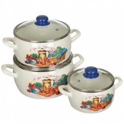 Набор посуды 6 пр. (2,2л, 4л, 5,3л), стекл.кр. (159427)