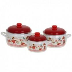 Набор посуды 6 пр. (2,2л, 4л, 5,3л), мет.кр. (152606)
