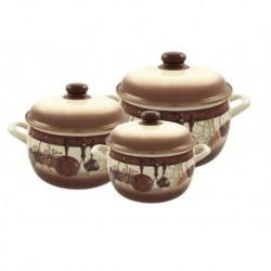 Набор посуды 6 пр. (кастрюли 2,2 л, 4,0л, 5,3 л с метал. кр.) (115485)
