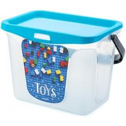 Емкость для игрушек Toys 6 л 287х200х200 (голубая лагуна)