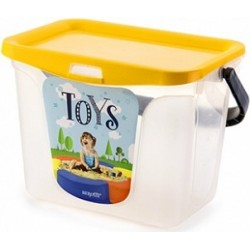 Емкость для игрушек Toys 6 л 287х200х200 (солнечный)