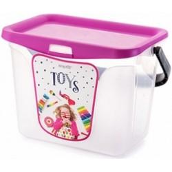 Емкость для игрушек Toys 6 л 287х200х200 (фуксия)