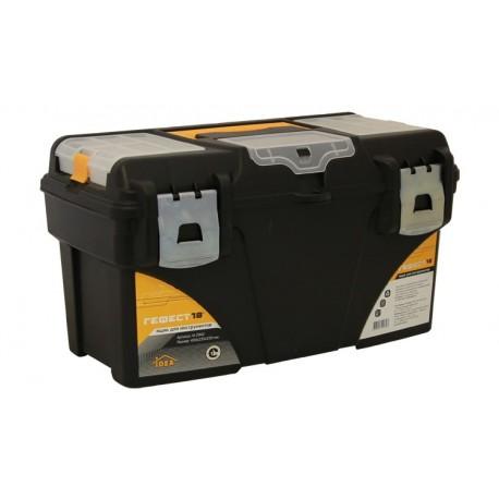 Ящик для инструментов ГЕФЕСТ 18' металл замки (с коробками) (235x250x430мм)