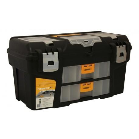 Ящик для инструментов ГЕФЕСТ 21' металл замки (2 консоли/секции) ( 275x290x530мм)