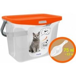 Емкость для корма животных 6 л (мандарин) 287x200x200мм