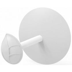 Держатель для туалетной бумаги Есо (снежно-белый) 150х150мм