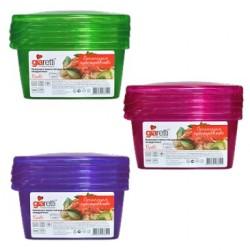 Комплект емкостей для продуктов Браво квадратных 0,45 л (3шт.)