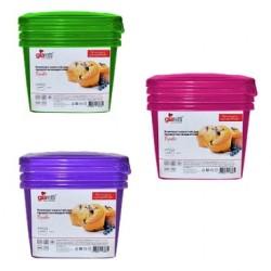 Комплект емкостей для продуктов Браво квадратных 0,75 л (3шт.)