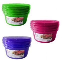 Комплект емкостей для продуктов Браво круглых 0,5 л (3шт.)