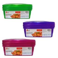 Комплект емкостей для продуктов Браво прямоугольных 1,35 л (3шт.)