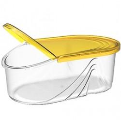 Емкость для сыпучих продуктов Wave 0,5 л (лимон) 182х110х70мм