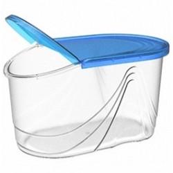 Емкость для сыпучих продуктов Wave 1 л (джинс) 182х110х102мм