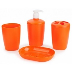 Набор аксессуаров для ванной комнаты Aqua (мандарин)