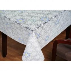 Клеёнка LACE - «Премиум Голд», серия LA - печать цветок 1.37m*20m белая