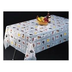 Клеенка Transparent PVC Tablecloth 1,37*30m прозрачная с рисунком TT-2546