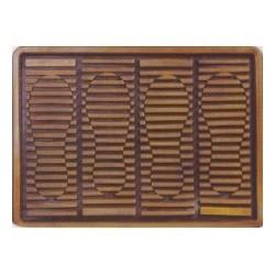 Коврик придверный резина  38*52 (509) следы