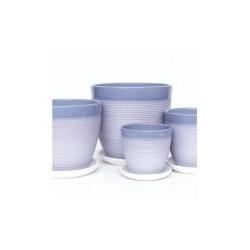 Набор керам. горшков 3шт Пастель черничный крокус (12, 15, 18 см)