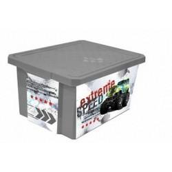 Детский ящик для хранения игрушек X-BOX Супер Трак 57л на колесах