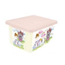 Детский ящик для хранения игрушек X-BOX Сказочная Принцесса 57л на колесах